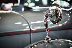 MOSKAU - 9. MÄRZ 2018: Packard acht 1934 an der Ausstellung Oldtim Stockbilder