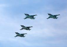 MOSKAU - 9. MAI: Düsenjäger nehmen Parade teil Lizenzfreie Stockfotografie