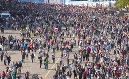 MOSKAU am 9. Mai 2015 70 Jahre des Sieges Stockfoto