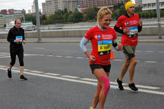 Moskau-Marathon Stockfotos