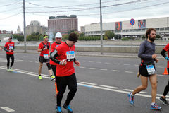 Moskau-Marathon Lizenzfreies Stockfoto