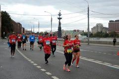 Moskau-Marathon Lizenzfreie Stockfotos