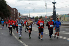Moskau-Marathon Stockbild