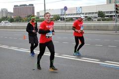 Moskau-Marathon Stockbilder