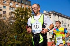 Moskau-Marathon von 2017, Teilnehmer an das 42 Kilometer-Rennen Stockbilder