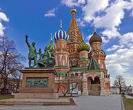 Moskau-Markstein, St.-Basilikum-Kathedrale lizenzfreie stockfotos