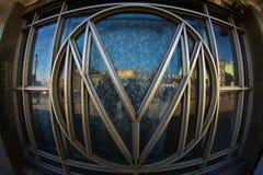 Moskau-Metro-Logo Lizenzfreie Stockfotos