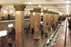 Moskau-Metro. Russland stockfotos
