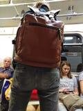 Moskau-Metropassagiere stockbilder