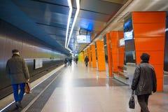 Moskau-Metrostation Stockbilder