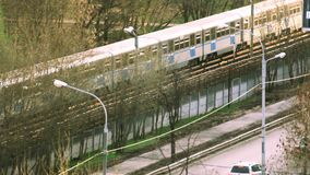 Moskau-MetroUntergrundbahn draußen stock video