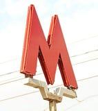 Moskau-Metrozeichen lizenzfreie stockfotografie