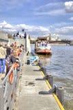 moskau Moskva Fluss Stockfotos