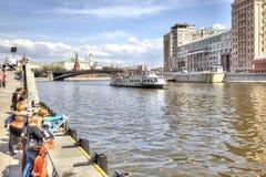 moskau Moskva Fluss Lizenzfreies Stockbild