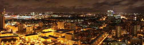 Moskau-Nacht lizenzfreies stockbild