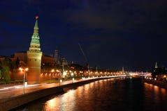 Moskau-Nachtansicht Lizenzfreies Stockbild