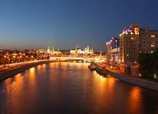 Moskau nachts Lizenzfreie Stockfotos