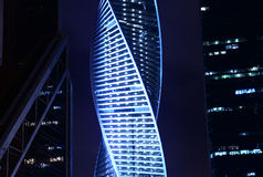 Moskau nachts Stockfotos