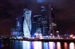 Moskau nachts Stockfotografie