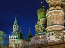 Moskau nachts lizenzfreies stockfoto