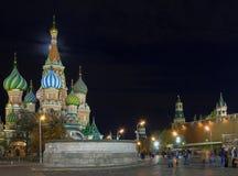 Moskau nachts stockbilder
