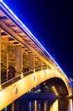 Moskau nachts, Smolenskij-Metro brogde Lizenzfreie Stockbilder