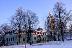 Moskau-Park Tsaritsyno im Winter Lizenzfreie Stockfotografie