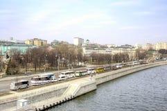 moskau Prechistenskaya-Damm Stockfoto