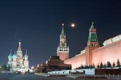 Moskau-rotes Quadrat nachts Lizenzfreies Stockbild
