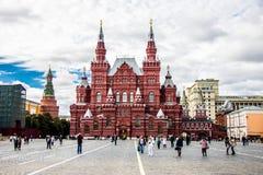 Moskau, rotes Quadrat und historisches Museum Stockbild