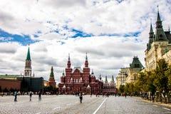 Moskau, rotes Quadrat und historisches Museum Stockfotos