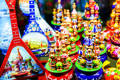 Moskau, Russia - July 22, 2016: Colorful Russian Souvenir Royalty Free Stock Photography