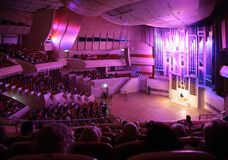 MOSKAU, RUSSLAND - 10. OKTOBER: Konzert von Organmusik Lizenzfreie Stockfotografie