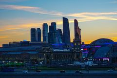 Moskau, Russland - Ansicht des Geschäftszentrums von Moskau stockfotos