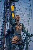 MOSKAU, RUSSLAND APRIL, 24, 2018: Das Monument zum Zar von Russland Peter 1 in Moskau wurde auf dem Projekt des Bildhauers errich lizenzfreie stockbilder