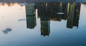 Moskau, Russland - 9. April 2013 Moskau-Stadt-Geschäftszentrum an Lizenzfreies Stockfoto