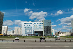 Moskau, Russland 24. April 2016 Polyclinic Nr. 201 in Zelenograd Lizenzfreie Stockfotografie