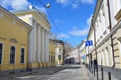 Moskau, Russland, April, 15, 2017 Stadtvilla von Golovin in Potapovsky-Weg Stockbilder