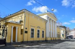 Moskau, Russland, April, 15, 2017 Stadtvilla von Golovin in Potapovsky-Weg Lizenzfreie Stockfotografie