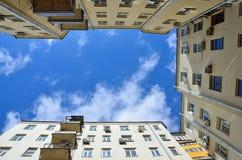 Moskau, Russland, April, 15, 2017 Wohngebäude in Potapovsky-Weg in Moskau Stockbilder