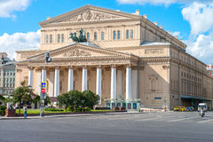 Moskau, Russland - 16. August 2016: Bolshoi-Theater, Straße Ohotniy Ryad Das berühmteste Theater von Russland stockfotografie