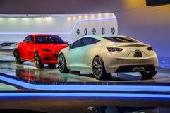 MOSKAU, RUSSLAND - AUGUST 2012: CHEVROLET-VOLT-KONZEPT dargestellt als Weltpremiere bei 16. MIAS Moscow International Automobile  Lizenzfreie Stockfotos