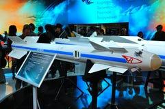 MOSKAU, RUSSLAND - AUGUST 2015: Luft-Luft-Rakete Vympel R-73 AA-11 Stockfoto