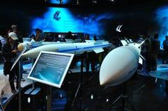 MOSKAU, RUSSLAND - AUGUST 2015: Luft-Luft-Rakete Vympel R-37 AA-13 Lizenzfreie Stockbilder