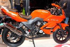 MOSKAU, RUSSLAND, das März 2013, 10. internationales Motorrad Exhibi Lizenzfreies Stockfoto