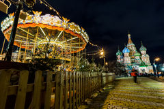 Moskau, Russland - 25. Dezember 2015: die Weihnachtsfeier an Lizenzfreie Stockfotografie