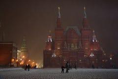 MOSKAU, RUSSLAND - 29. DEZEMBER:  Eine breite Ansicht des Roten Platzes mit Th Lizenzfreie Stockbilder