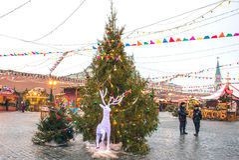 MOSKAU, RUSSLAND - 23. DEZEMBER 2016: Roter Platz Stockfoto