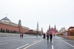 MOSKAU, RUSSLAND - 23. DEZEMBER 2016: Roter Platz Lizenzfreies Stockbild