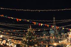 Moskau, Russland - 1. Dezember 2016: verziert durch neues Jahr Roten Platz in Moskau, GUMMI Lizenzfreie Stockfotos